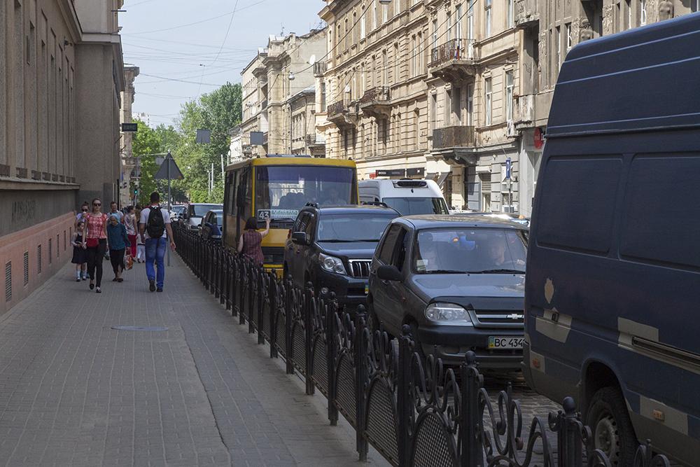 Транспортні корки 5 травня 2018 року у Львові