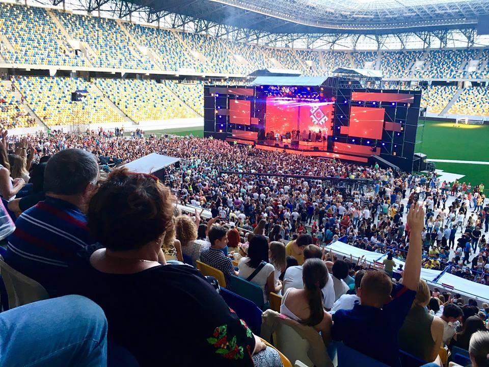 концерт на стадіоні Арена Львів. Фото Галини Гузьо