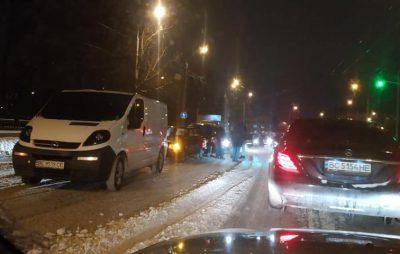 На Городоцькій не розминулось 4 автомобілі. Фото: Ігор Зінкевич.