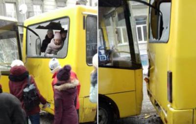 У Львові не розминулися маршрутні автобуси. Фото: Варта1