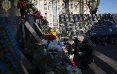 Порошенко разом із Президентом Європейської Ради вшанували пам'ять Героїв Небесної Сотні