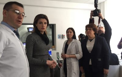 Марина Порошенко відвідала онкологічний центр у Львові. Фото 4studio