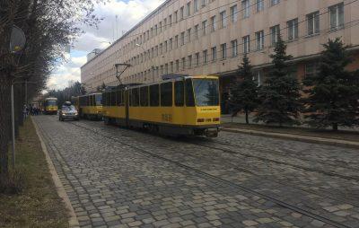 У Львові через ДТП зупинився рух трамваїв. Фото: 4studio.