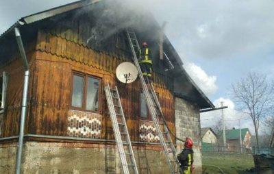 На Самбірщині під час пожежі власник отримав опіки