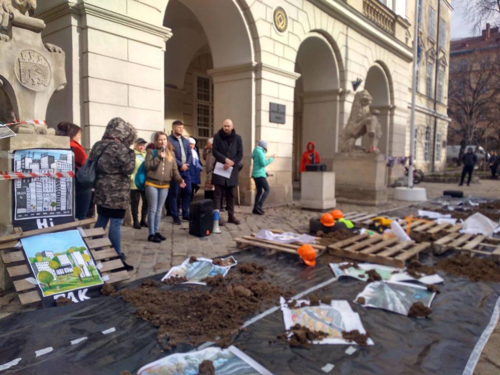 Як у Львові пікетували Садового. Фото 4studio