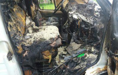 У Львові згоріло авто