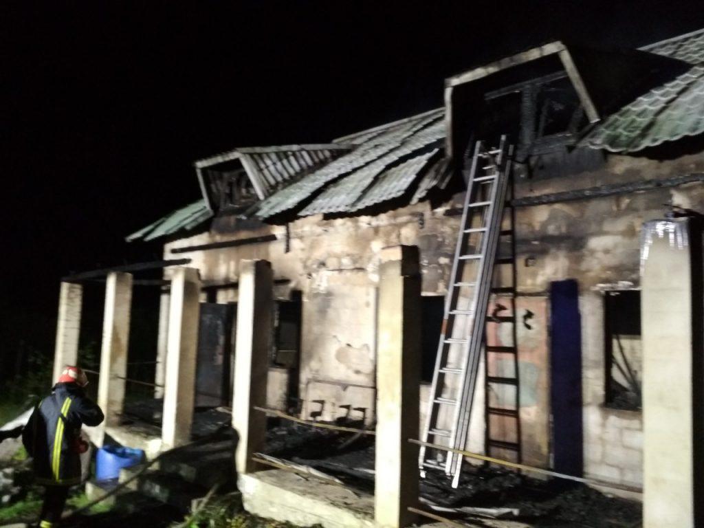 На Стрийщині під час пожежі чоловік отримав опіки