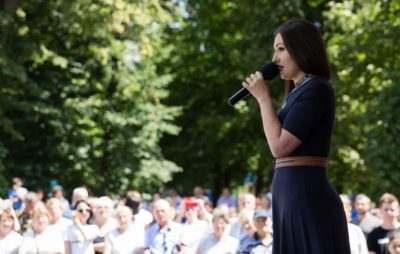 Софія Федина закликала українців на День Незалежності зібратися на парад. Фото: Прямий.