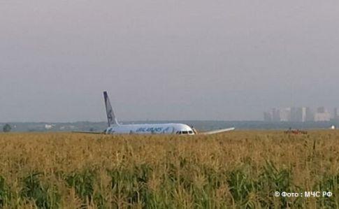 Літак на Сімферополь здійснив жорстку посадку в полі Підмосков'я