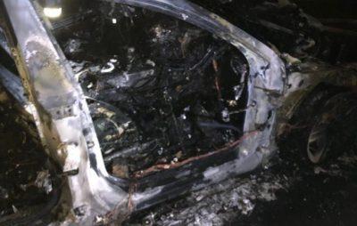 У Києві спалили машину невістки Гонтаревої. Фото: Українська правда.