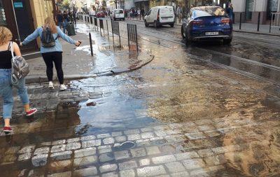 У центрі Львова стався прорив води. Фото Олег Радик