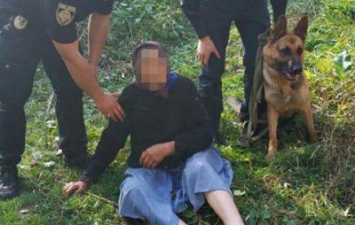 У Миколаївському районі собака-поліцейський допоміг розшукати жінку, яка заблукала в лісі. Фото: Світлана Добровольська.