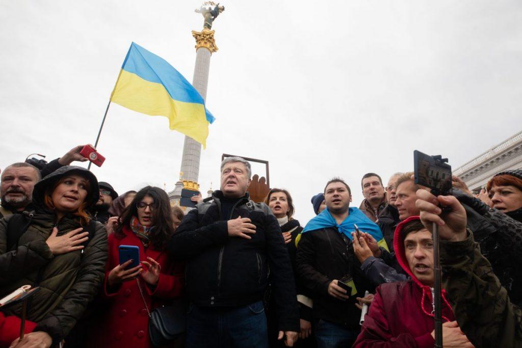 Те, що сьогодні ми тут – абсолютно правильне рішення, Порошенко на Всеукраїнському віче «Зупинимо капітуляцію»