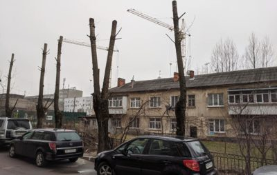 Як у Львові знищили дерева. Фото: Зручне місто.