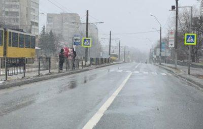 У Львові на Княгині Ольги зупинились трамваї. Фото: Ігор Зінкевич.