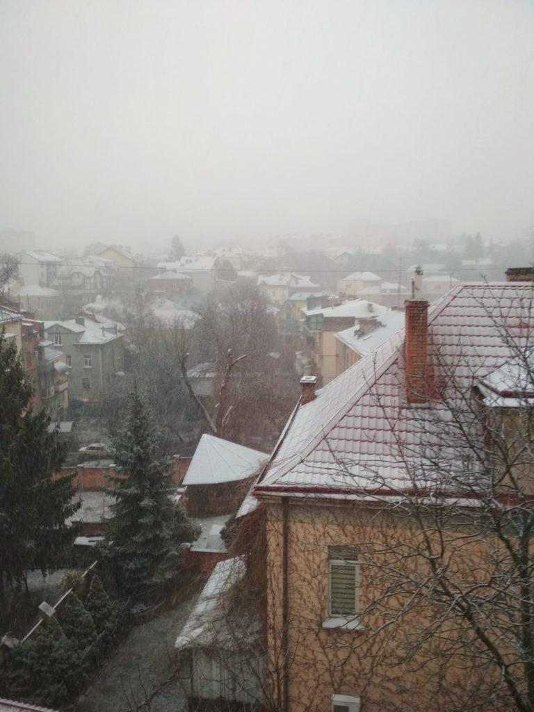 У Львові випав сніг. Фото: Тетяна Вергелес.
