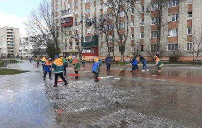 Як у Львові дезіфікують вулиці. Фото: Ірина Маруняк.