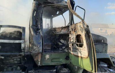 Окупанти обстріляли вантажівку ЗСУ