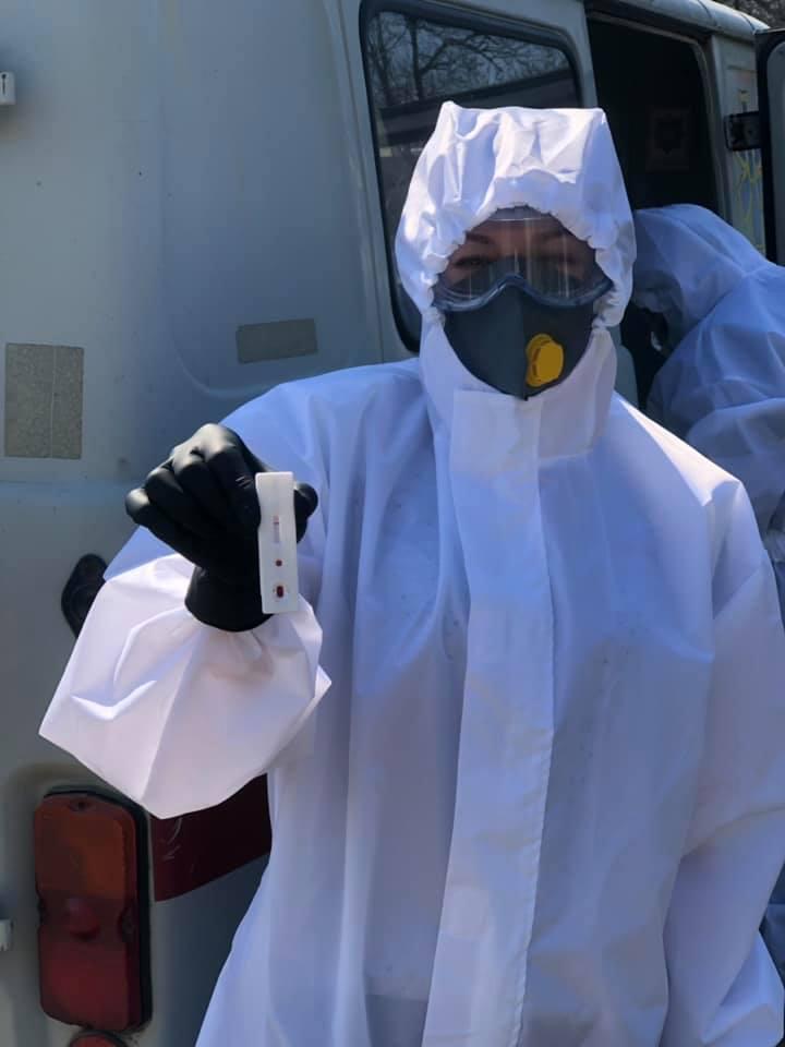 На Самбірщині за два дні провели лише 44 експрес-тести на виявлення коронавірусу. Фото: Самбірська РДА.