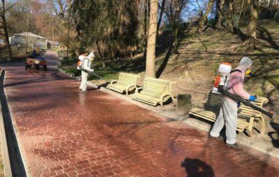 У Львові провели дезінфекцію Стрийського парку. Фото: ЛМР.