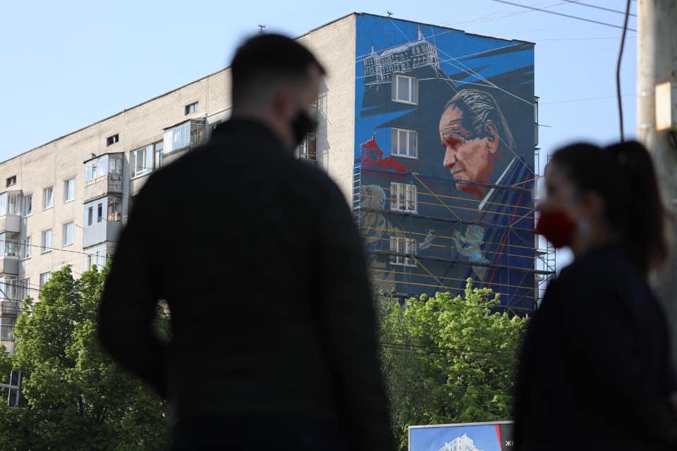 У Львові відкрили мурал пам'яті Бориса Возницького. Фото: Khrystyna Protsak.