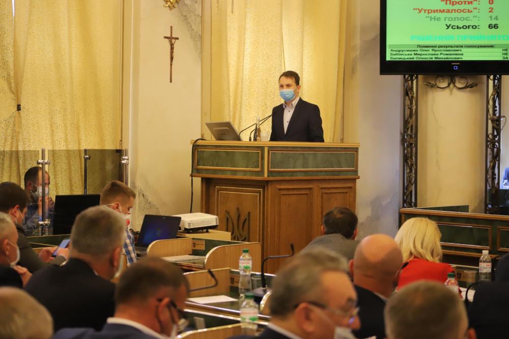 У Львівській обласній раді новий депутат – Тарас Курчик. Фото: ЛОР.