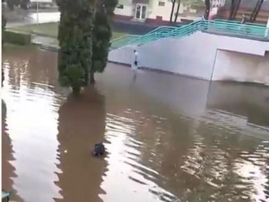 У Моршині через негоду затоплені чотири санаторії. Фото: Факти.