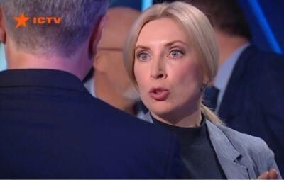 """""""Слуга"""" Верещук в ефірі ток-шоу використала проти Порошенка кремлівський фейк. Фото: Радіо трек."""
