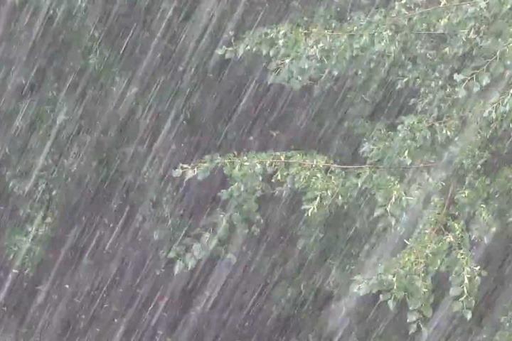 Як після сильної зливи затопило Новояворівськ