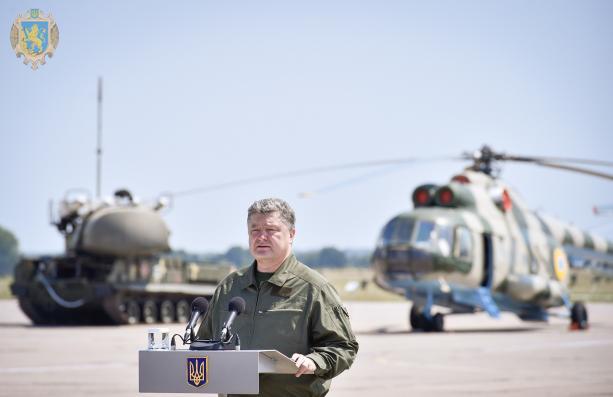 Порошенко привітав Повітряні сили ЗСУ. Фото з відкритих джерел.