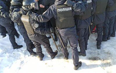 У Львові під час акції проти бізнесу Козака постраждало четверо поліцейських. Фото: Варта1.
