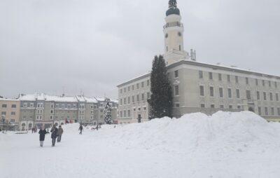 У Дрогобичі спорудили снігові гірки Фото: ДМР