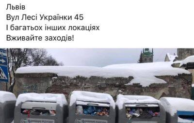 У Львові не вивозять сміття. Фото: Петро Мацук