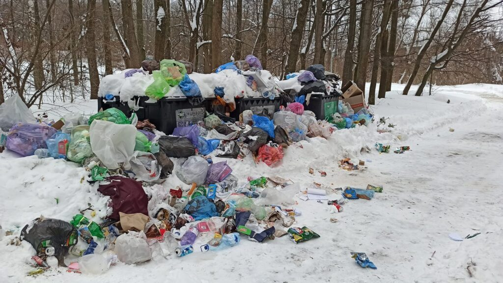У Львові не вивозять сміття. Фото: Irina Orlyanskaya
