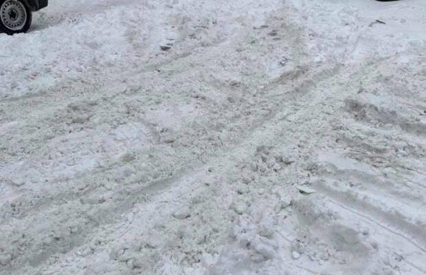 Десятки мешканів Львова вимагають у влади розчистити дороги від снігу. Фото: Зіновій Гузар.