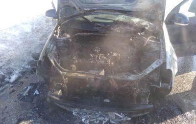 У Яворівському районі згорів автомобіль. Фото: ДСНС