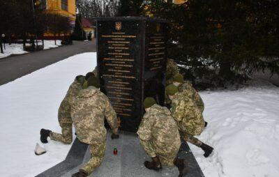 В Академії сухопутних військ вшанували пам`ять загиблого лейтенанта Богдана Слободи. Фото: Павло Ткачук