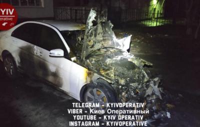 У Києві колишній депутат спалив дружині авто. Фото: Київ Оперативний