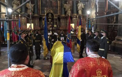 У Львові попрощалися із загиблим на Сході військовослужбовцем Ігорем Байталою. Фото: ЛМР