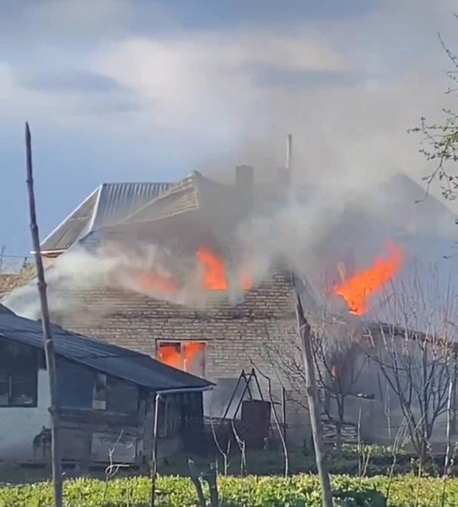 На Львівщині згорів житловий будинок (ФОТО)