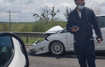 У Львівській області перекинувся автомобіль. Фото: Варта1