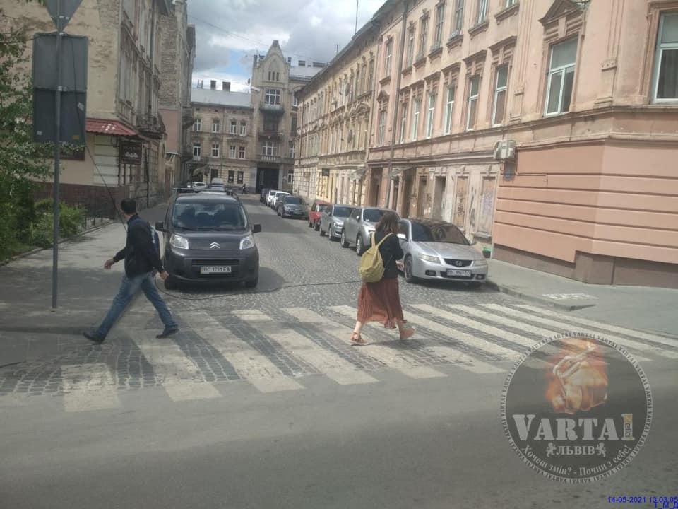 У Львові кабель впав на припарковані автомобілі (ФОТО)