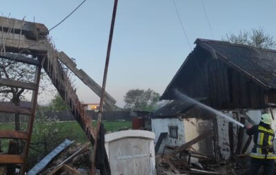 На Львівщині внаслідок вибуху газу зруйновано приватний будинок. Фото: ДСНС
