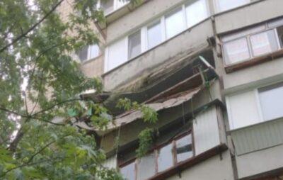 У Києві обвалився балкон багатоповерхівки. Фото: Газета Дарницькі Вісті