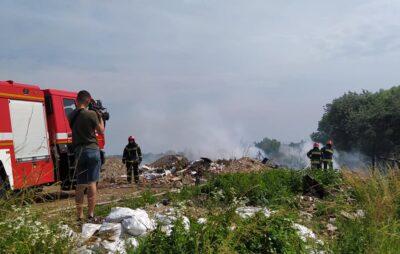 У Львові горить сміттєзвалище. Фото: Олексій Мінтій