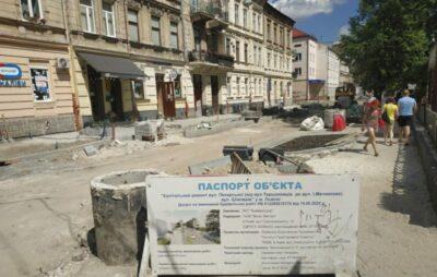 У Львові на вулиці Пекарській тривають ремонтні роботи. Фото: ЛМР