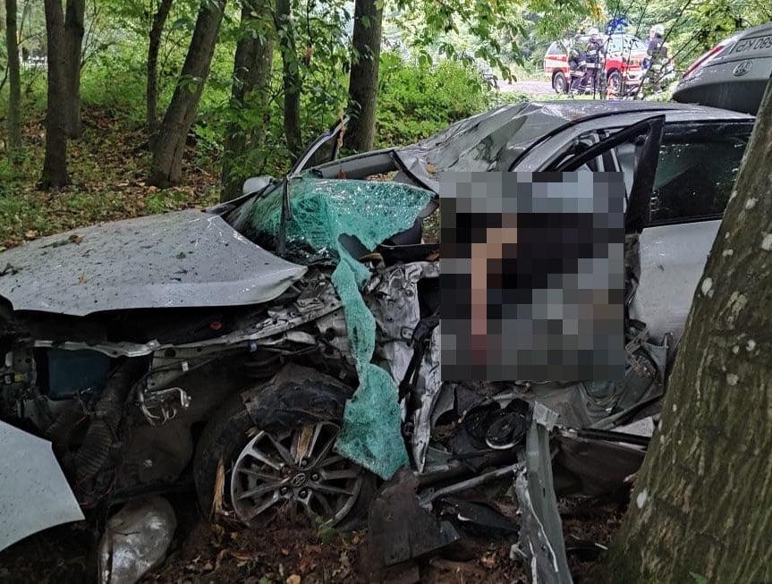 На Львівщині унаслідок ДТП загинув водій «Тойоти». Фото: Поліція Львівської області