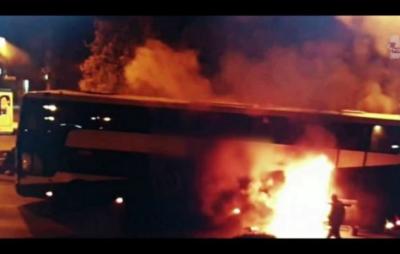 У Польщі під час руху загорівся автобус з українцями