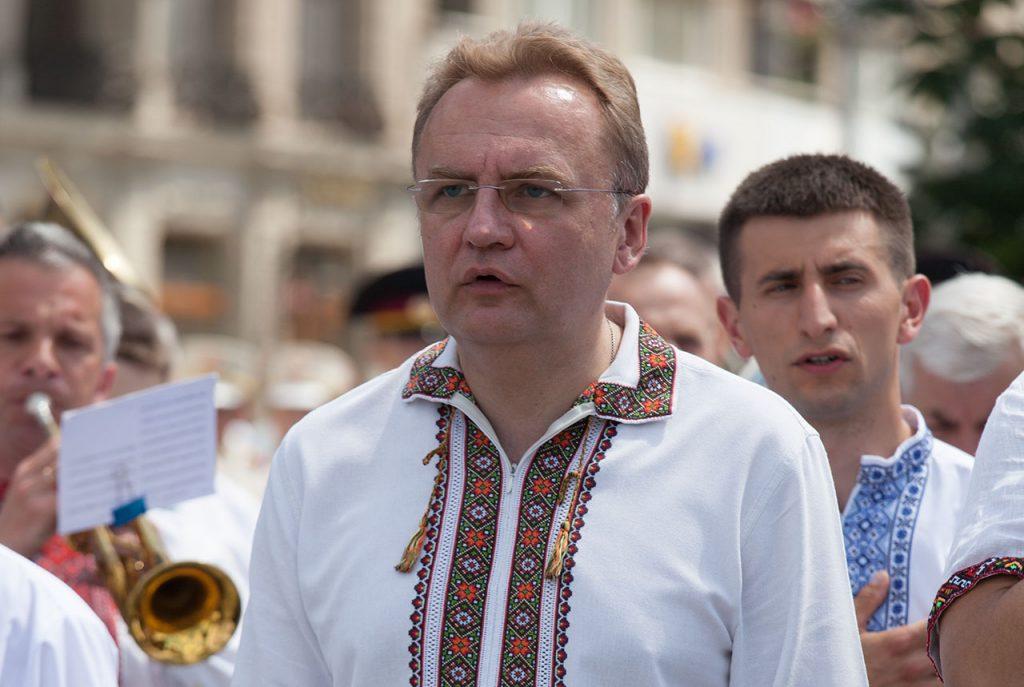 Львівський міський голова Андрій Садовий на вічі до Дня Героїв 27 травня 2018 року