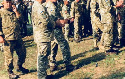 На Львівщині зустріли бійців 24-ї механізованої бригади, які повернулись зі Сходу. Фото Юра Кенцало, 4 студія